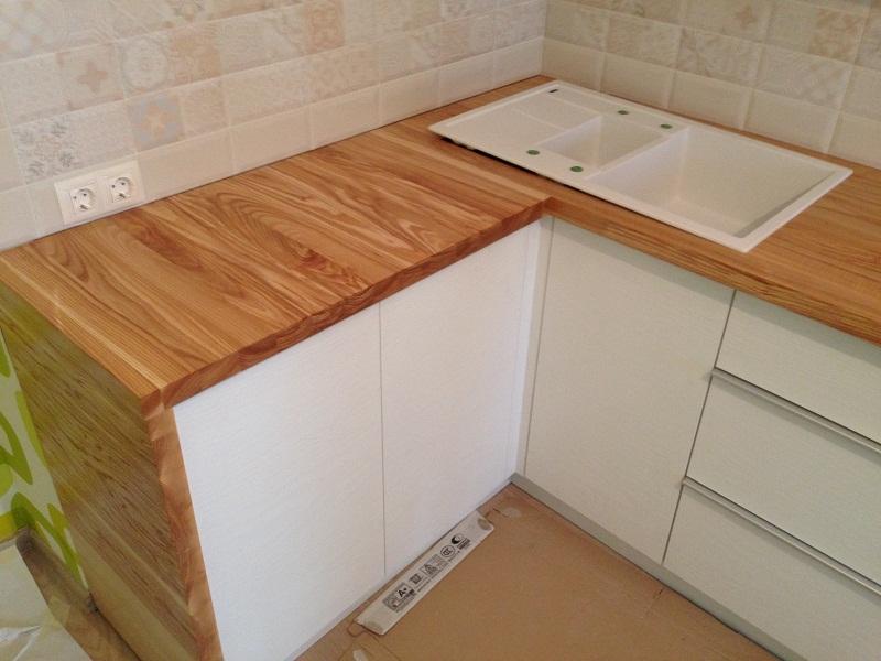 Кухонная столешница береза или дуб столешница в ванной в спб